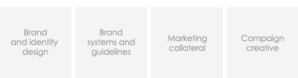 Creative services - brand identity, marketing collateral design, campaign creative