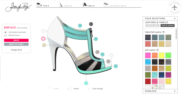 Design shoes online at Shoes of Prey
